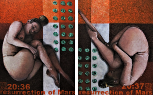 378 Resurrection of Mars 200x120 Oil on canvas 2019